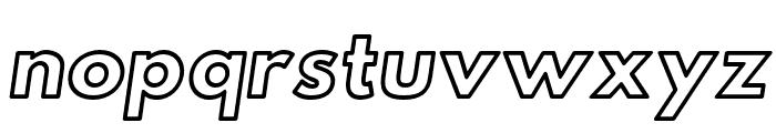 Hussar Ekologiczne 1 Oblique Font LOWERCASE