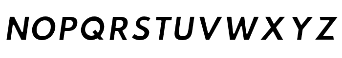 Hussar Ekologiczne 2 Oblique Font UPPERCASE