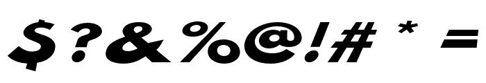 Hussar Milosc Oblique Font OTHER CHARS