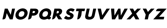 Hussar Nova Black Italic Font UPPERCASE