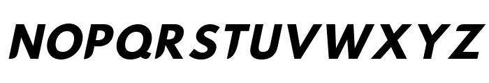 Hussar Nova Bold Italic Font UPPERCASE