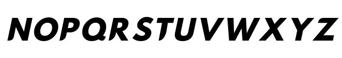 Hussar Nova ExtraBold Italic Font UPPERCASE