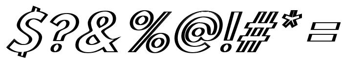Hussar Outliner Oblique Font OTHER CHARS