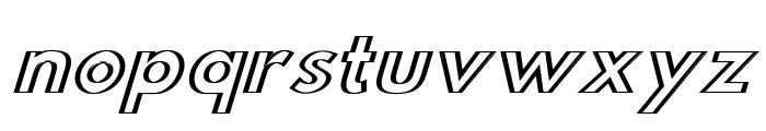 Hussar Outliner Oblique Font LOWERCASE