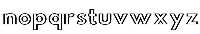 Hussar Outliner Font LOWERCASE