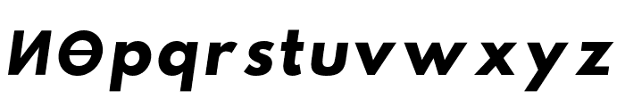 Hussar Paneuropjskich Lowercase Oblique Font LOWERCASE