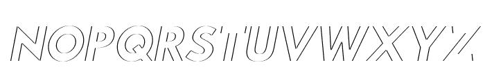 Hussar Plate Oblique Font UPPERCASE