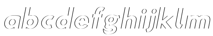 Hussar Plate Oblique Font LOWERCASE
