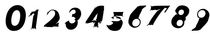 Hussar Przerywany Oblique Font OTHER CHARS
