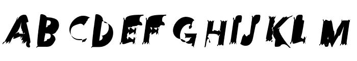 Hussar Przerywany Oblique Font UPPERCASE