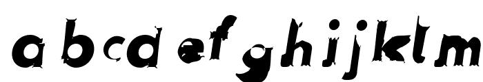 Hussar Przerywany Oblique Font LOWERCASE