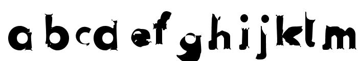 Hussar Przerywany Font LOWERCASE