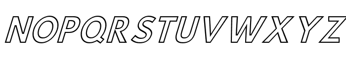 Hussar Simple Condensed Ghost Oblique 3 Font UPPERCASE