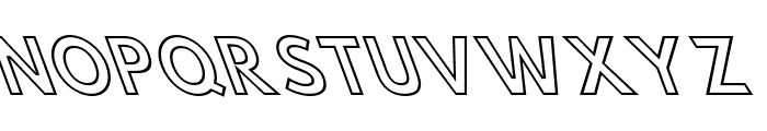 Hussar Simple Condensed Ghost OppositeOblique 3 Font UPPERCASE
