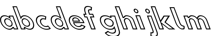 Hussar Simple Condensed Ghost OppositeOblique 3 Font LOWERCASE