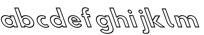 Hussar Simple Extended Ghost OppositeOblique Three Font LOWERCASE