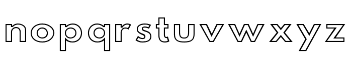 Hussar Simple Extended Ghost Font LOWERCASE