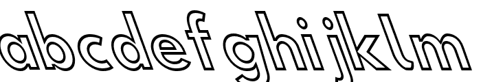 Hussar Simple ExtraCondensed Ghost OppositeOblique Three Font LOWERCASE