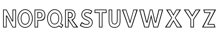 Hussar Simple ExtraCondensed Ghost Font UPPERCASE