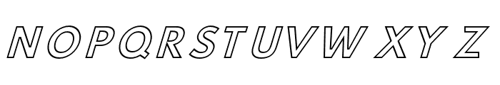 Hussar Simple Ghost Oblique Three Font UPPERCASE