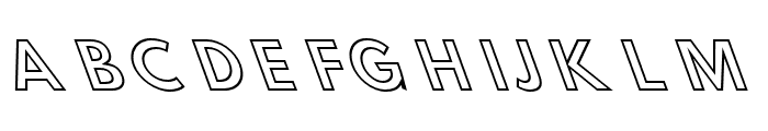 Hussar Simple Ghost OppositeOblique Three Font UPPERCASE