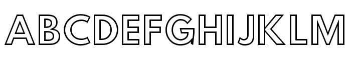 Hussar Simple Ghost Font UPPERCASE