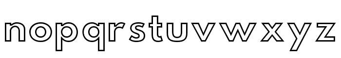 Hussar Simple Ghost Font LOWERCASE