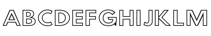 Hussar Simple SuperExtended Ghost Font UPPERCASE