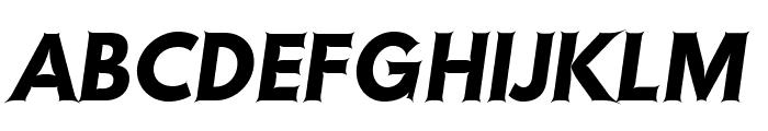 Hussar Szturm Oblique Font UPPERCASE