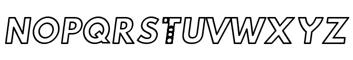 Hussar Techniczny Outline Oblique Font UPPERCASE