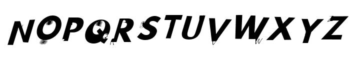 Hussar Wojna3 Oblique Font UPPERCASE