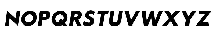 Hussar Woodtype Black Oblique Font UPPERCASE