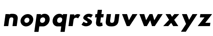 Hussar Woodtype Black Oblique Font LOWERCASE