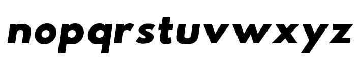 Hussar Woodtype UltraBlack Oblique Font LOWERCASE