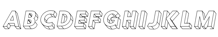 Hussar3D Four Italic Font UPPERCASE