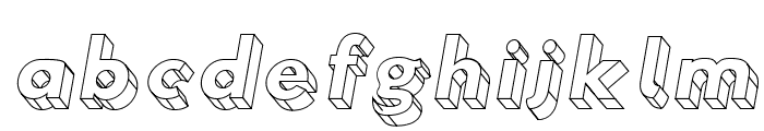Hussar3D Four Italic Font LOWERCASE