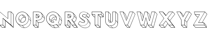 Hussar3D Four Font UPPERCASE