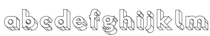 Hussar3D Four Font LOWERCASE