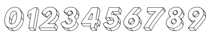 Hussar3D Three Italic Font OTHER CHARS