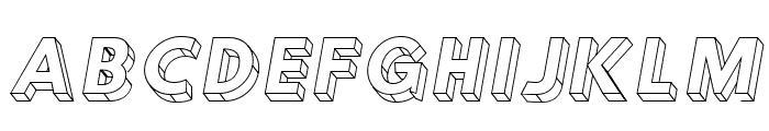 Hussar3D Three Italic Font UPPERCASE