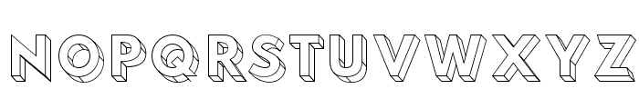 Hussar3D Three Font UPPERCASE