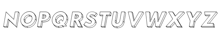 Hussar3D Two Italic Font UPPERCASE