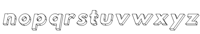 Hussar3D Two Italic Font LOWERCASE