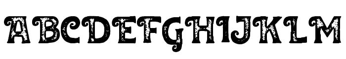 Huvet Rough Font UPPERCASE