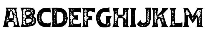 Huvet Rough Font LOWERCASE