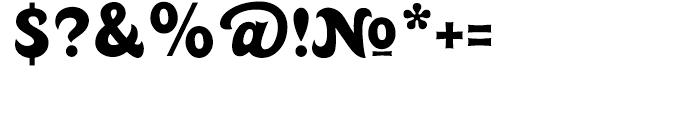 Huckleberry Regular Font OTHER CHARS