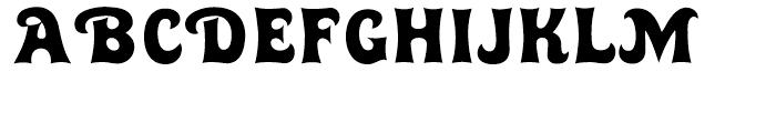 Huckleberry Regular Font UPPERCASE