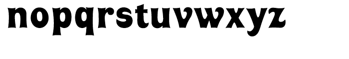 Huckleberry Regular Font LOWERCASE