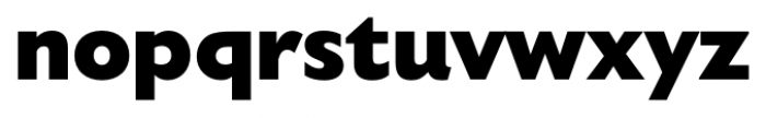 Humanist 521 Extra Bold Font LOWERCASE