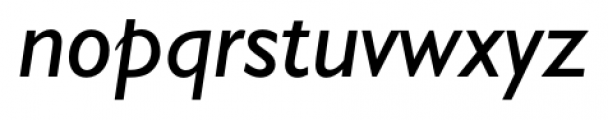 Humanist 521 Italic Font LOWERCASE